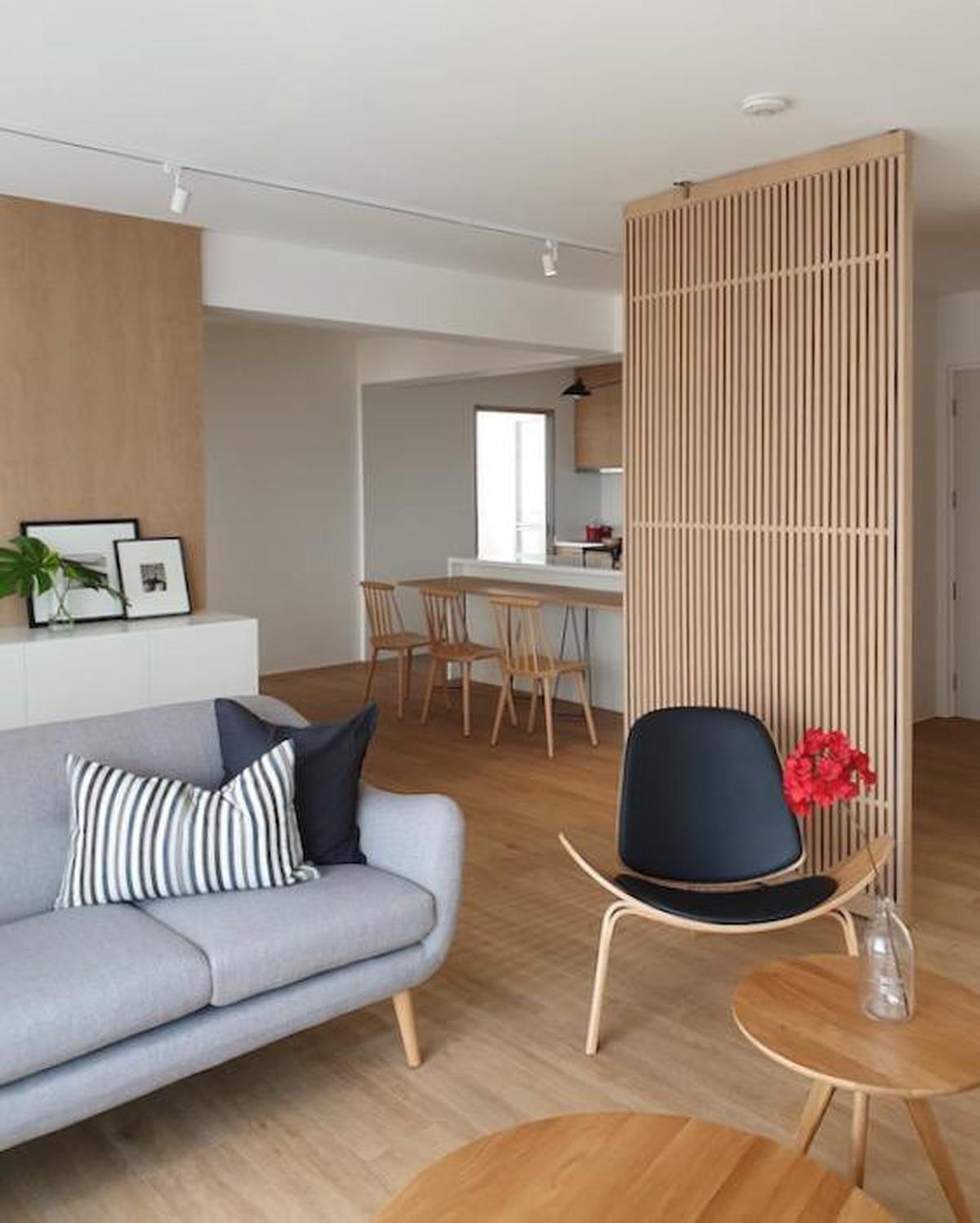 Đồ nội thất gỗ nhẹ trong căn hộ chung cư