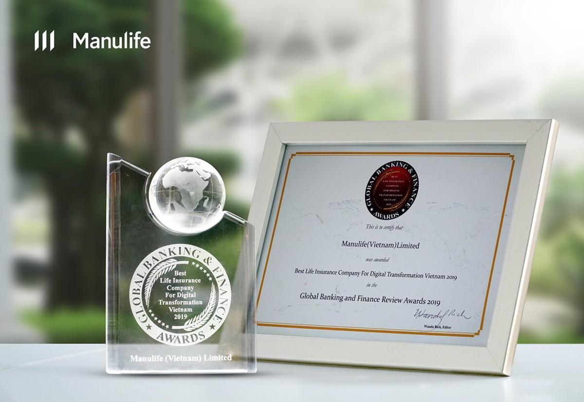Manulife được ghi nhận là công ty BHNT tốt nhất về chuyển đổi số hóa tại Việt Nam