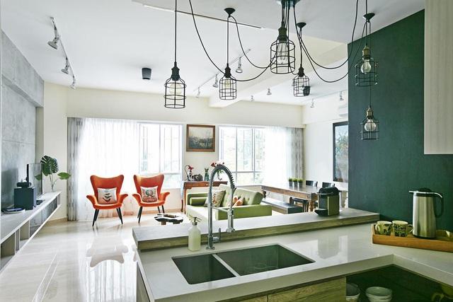 Căn hộ kết hợp giữa gỗ mộc và đồ nội thất sắc màu - Ảnh 3.