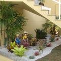 Khu vườn nhỏ ngay dưới gầm cầu thang