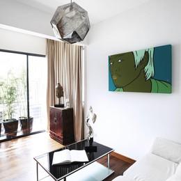 Căn hộ penthouse phủ kín bởi các tác phẩm nghệ thuật
