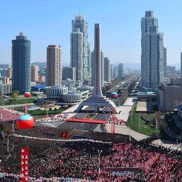 Ngắm tòa nhà 70 tầng xây trong một năm tại Triều Tiên