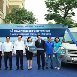 Ford Việt Nam trao tặng xe cho Trung tâm bảo trợ xã hội tỉnh Hải Dương