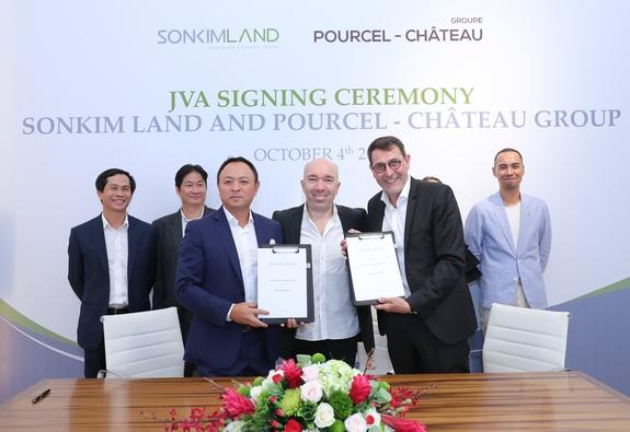 SonKim Land bắt tay với thương hiệu ẩm thực Pourcel Château