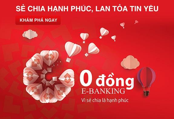 Techcombank thêm ưu đãi cho dịch vụ miễn phí E-Banking