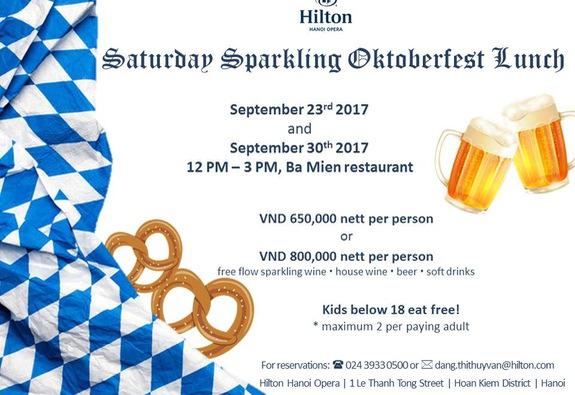 Tiệc mừng lễ hội bia Đức tại khách sạn Hilton Hanoi Opera