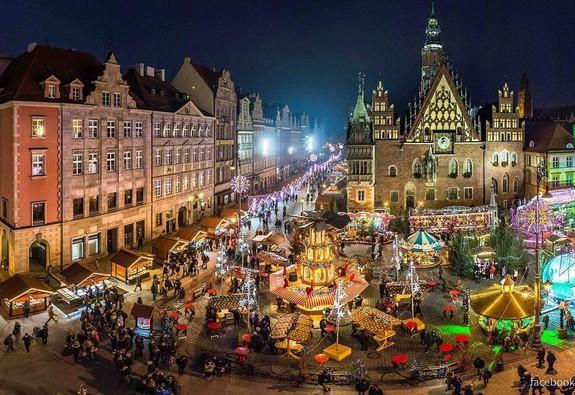 Wroclaw – không khí Giáng sinh Trung cổ kỳ diệu
