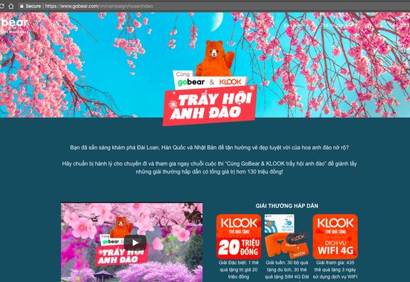 GoBear Việt Nam và KLOOK mang tới cơ hội trải nghiệm du lịch quốc tế nhân mùa hoa anh đào