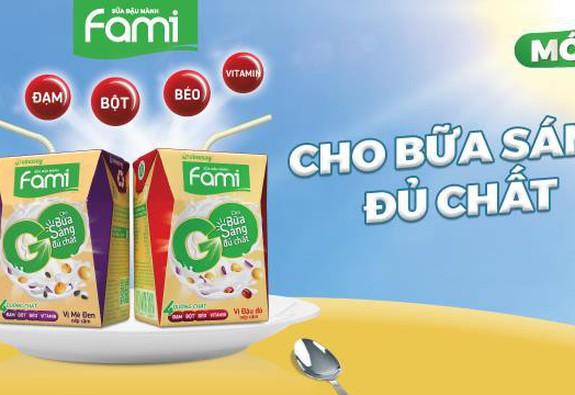 Vinasoy ra mắt sữa đậu nành Fami Go