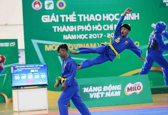 Khai mạc Giải Thể Thao Học Sinh TPHCM năm học 2017-2018Môn VOVINAM Việt Võ Đạo