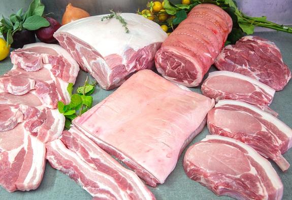 Giá thịt heo đã giảm sốc so với lúc cao điểm
