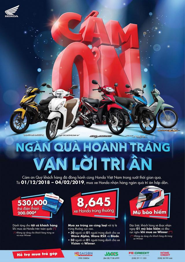Chương trình tri ân khách hàng lớn nhất năm của Honda Việt Nam - Ảnh 1.