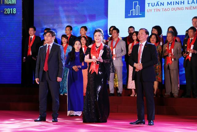Tuấn Minh Land vinh dự nhận giải thưởng Thương hiệu mạnh Việt Nam 2017 - 2018 - Ảnh 2.
