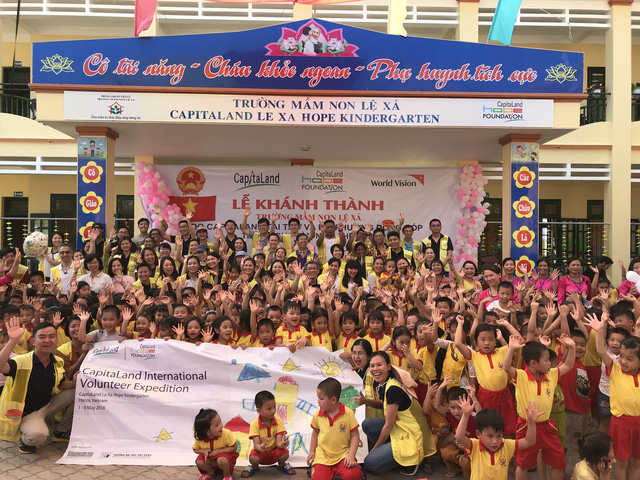 CapitaLand xây trường mẫu giáo Lệ Xá CapitaLand Hope  - Ảnh 2.