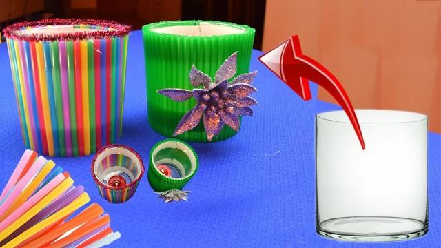 Tái sử dụng ống hút nhựa để tạo ra vật dụng có ích - Ảnh 5.