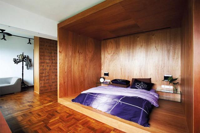 Những mảng tường gỗ gây ấn tượng mạnh - Ảnh 2.