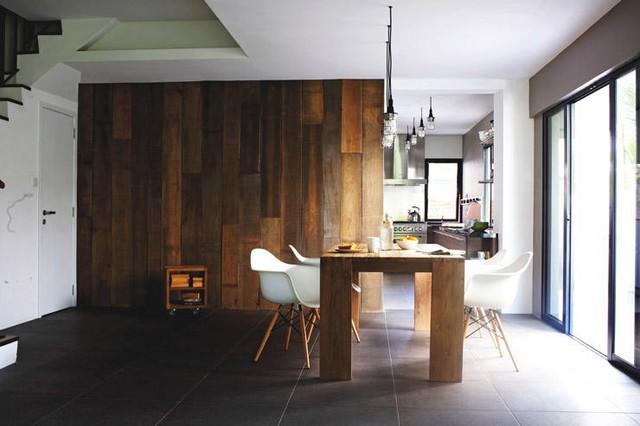 Những mảng tường gỗ gây ấn tượng mạnh - Ảnh 3.