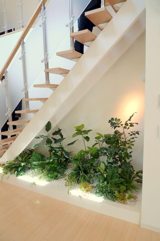 Khu vườn nhỏ ngay dưới gầm cầu thang - Ảnh 4.