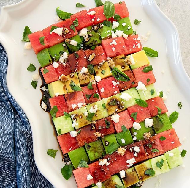 3 món salad mát lạnh với dưa hấu - Ảnh 1.
