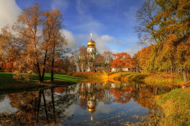 Ngắm mùa thu vàng ở cố đô của nước Nga - Ảnh 1.