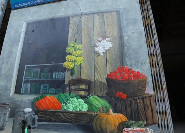 Về Chử Xá check in cùng tranh tường vẽ sản vật nông nghiệp - Ảnh 2.