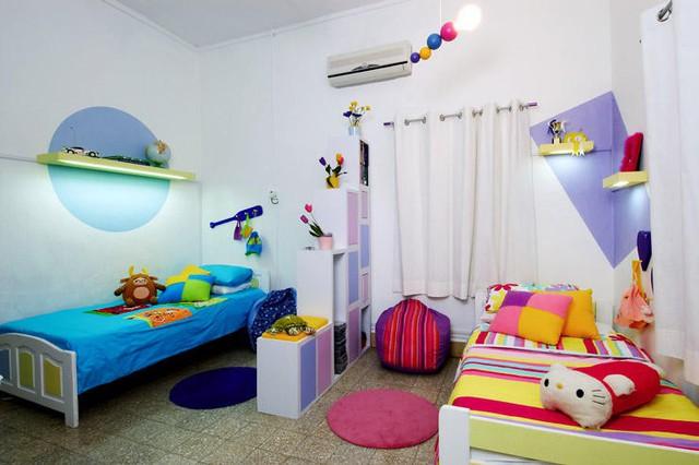 Phòng ngủ hợp lý cho hai bé sinh đôi - Ảnh 1.