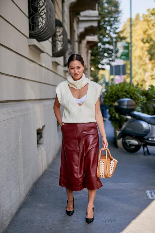 Chất liệu da nhuộm phủ sóng Milan Fashion Week - Ảnh 7.