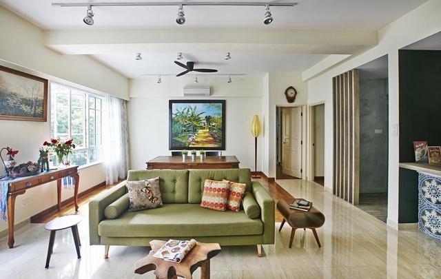 Căn hộ kết hợp giữa gỗ mộc và đồ nội thất sắc màu - Ảnh 1.