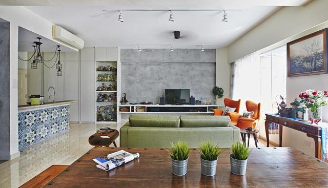 Căn hộ kết hợp giữa gỗ mộc và đồ nội thất sắc màu - Ảnh 2.