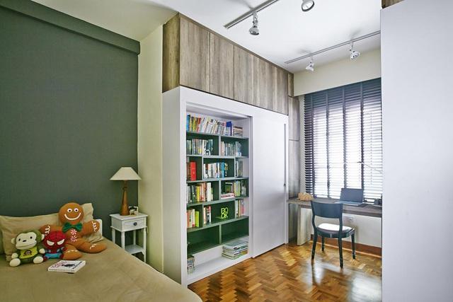 Căn hộ kết hợp giữa gỗ mộc và đồ nội thất sắc màu - Ảnh 9.