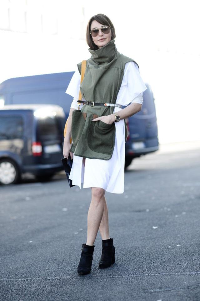 Thử phá cách với thời trang nhà binh - Ảnh 7.
